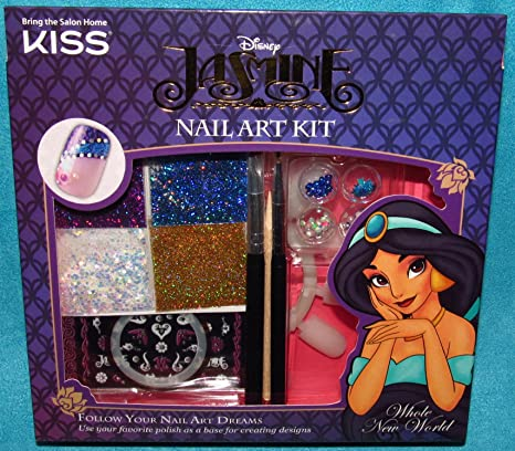 Buy Kiss Disney Aladdin Kit Princes Jasmine Nail Art Dreams Kit