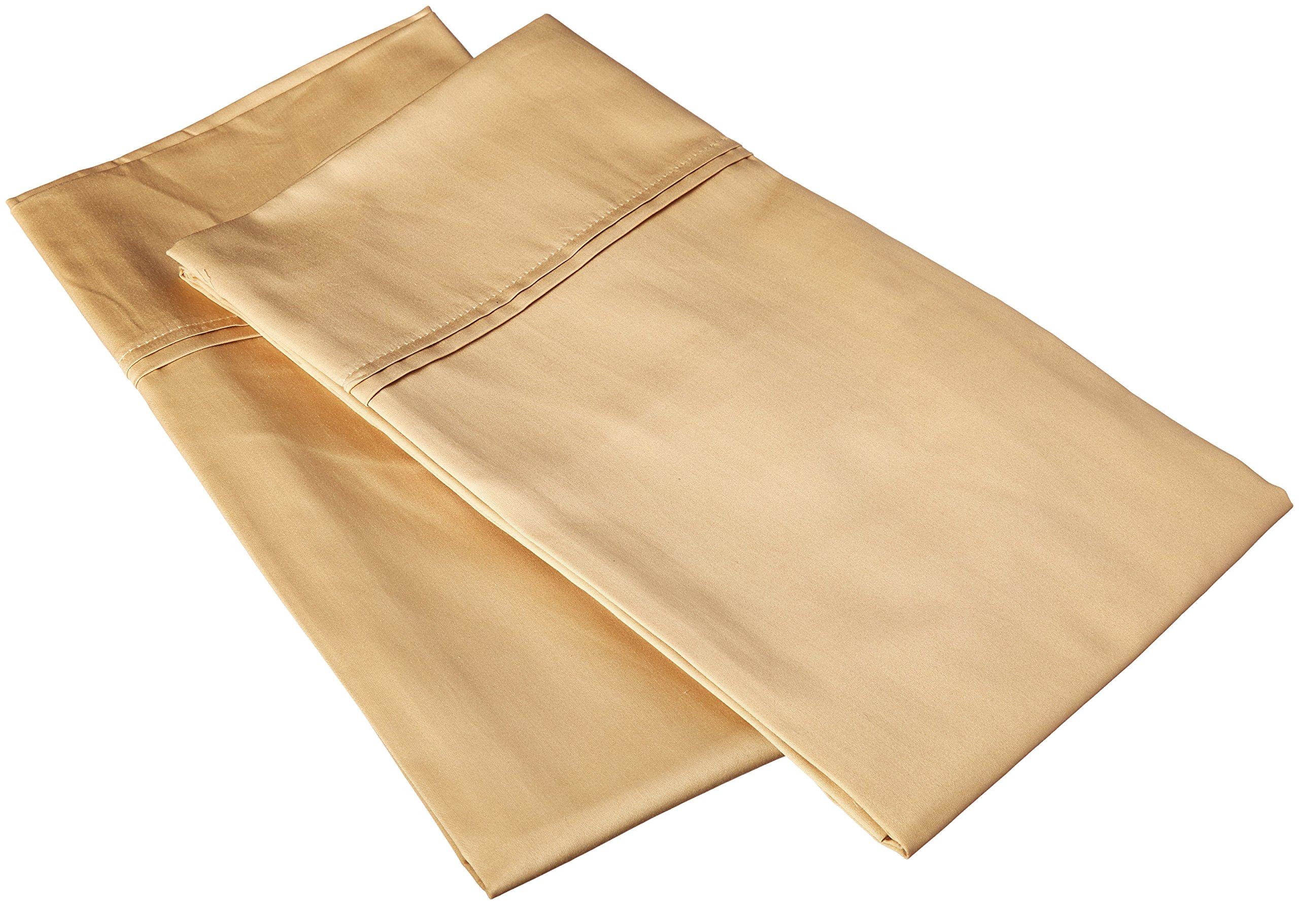 Charisma 510 Thread Count Pillowcase Pair, King, Pale Khaki