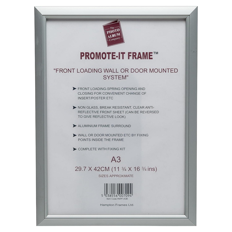PAPFA3B Promote-it Silver Aluminium A3 (30x42cm) Poster Certificate ...
