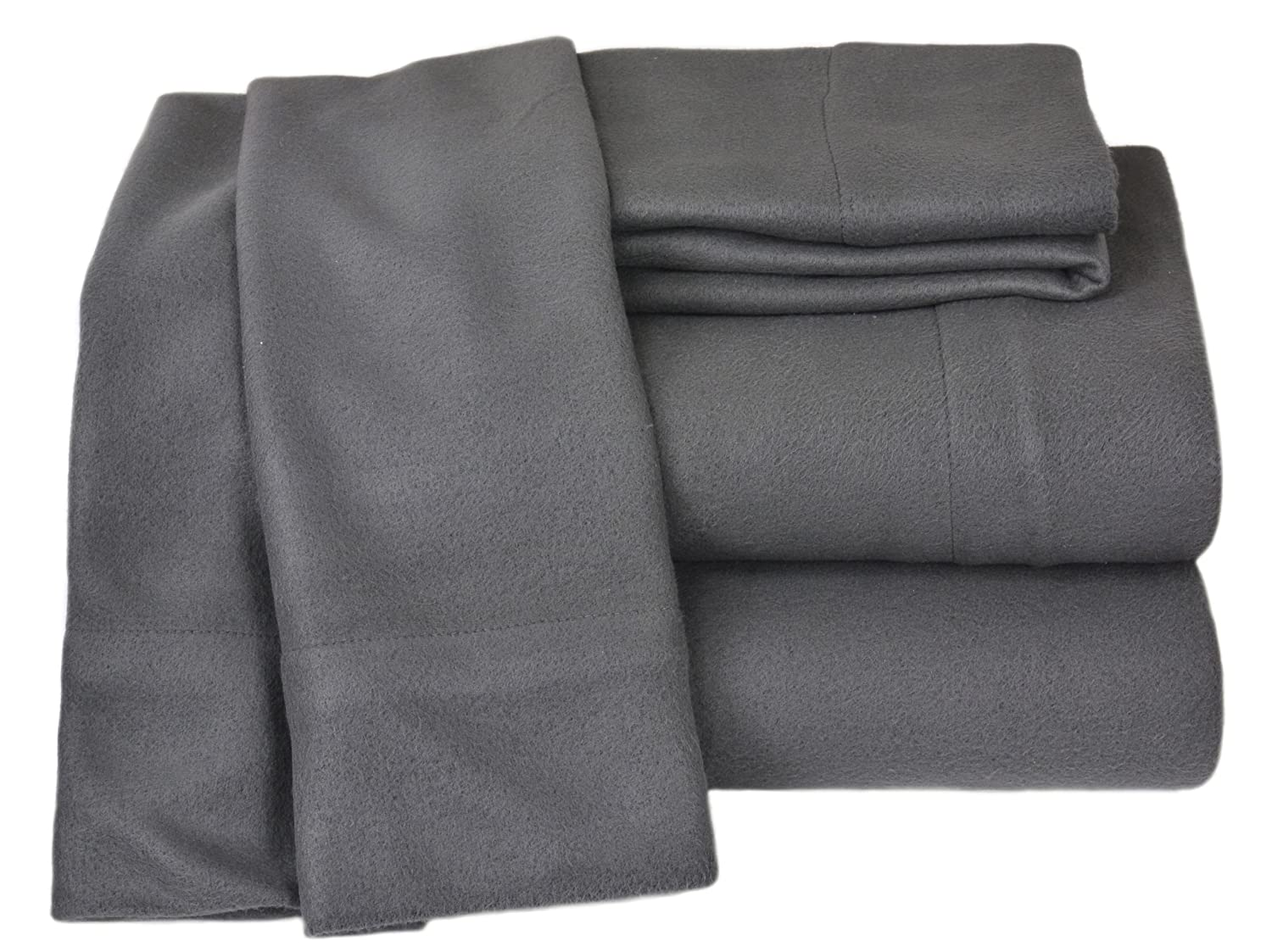 Elite Home Winter Nights Fleece Extra Plush 4-Piece Sheet Set