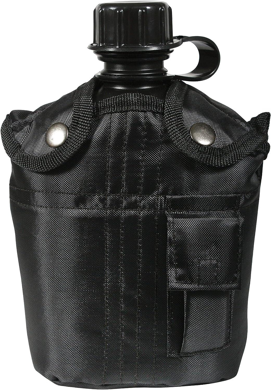 Rothco Noir 3 Pièces Cantine Kit Avec Housse /& Aluminum Tasse-Camping Survie