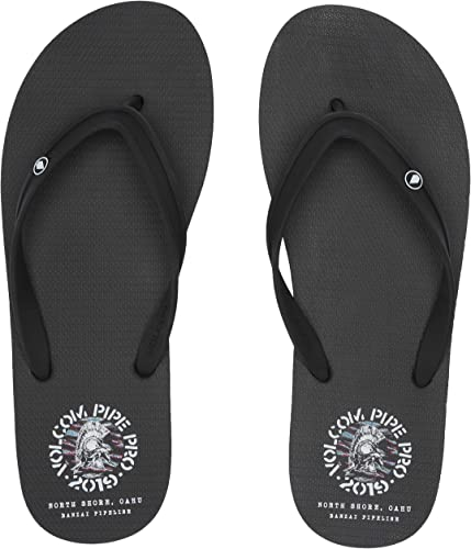NEW VOLCOM BIG YOUTH ROCKER SANDALS FLIP FLOP  BLACK US size 5  item#10