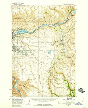 Amazon.com: Idaho Maps   1958 Lewiston Orchards, ID USGS Historical ...