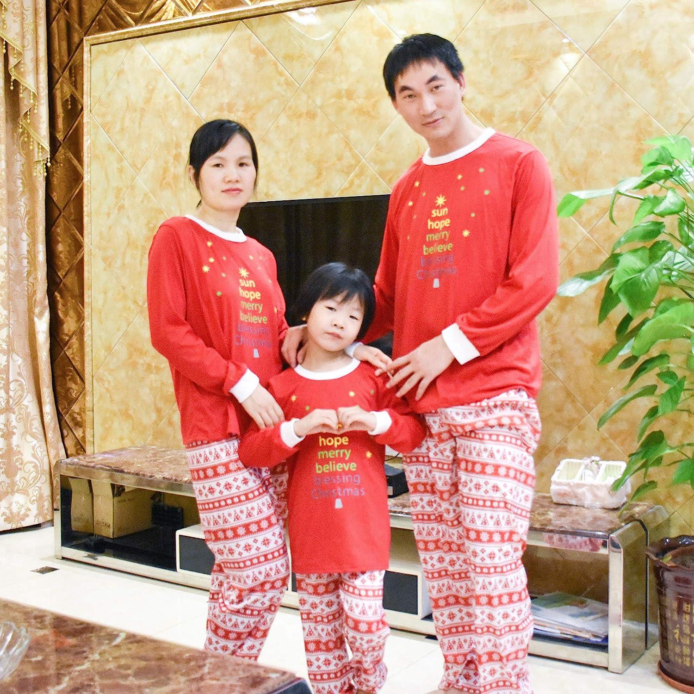 Family Matching Christmas Pajama Suit XFentech Family Pajama Set