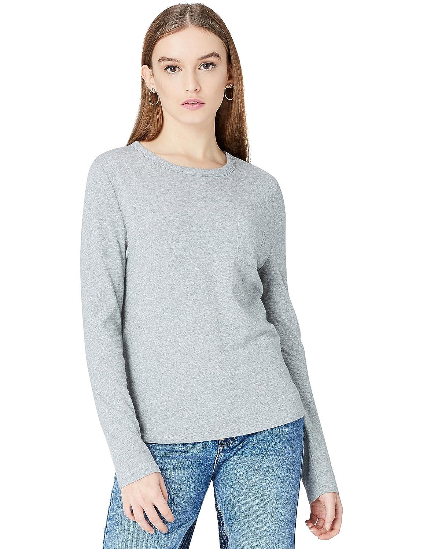 FIND T-Shirt Girocollo a Manica Lunga Donna 18110