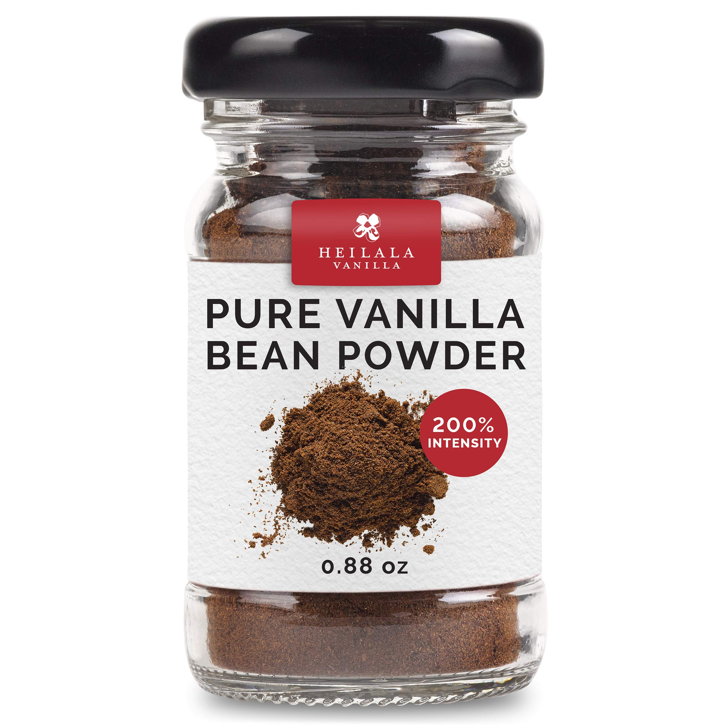 Vanilla Bean Powder - Pure Ground Vanilla Beans, Premium Bourbon Variety, Raw, Unsweetened, Ethically Sourced & Hand-Picked from Polynesia, Perfect for Sugar-Free & Raw Recipes, 0.88 oz by Heilala