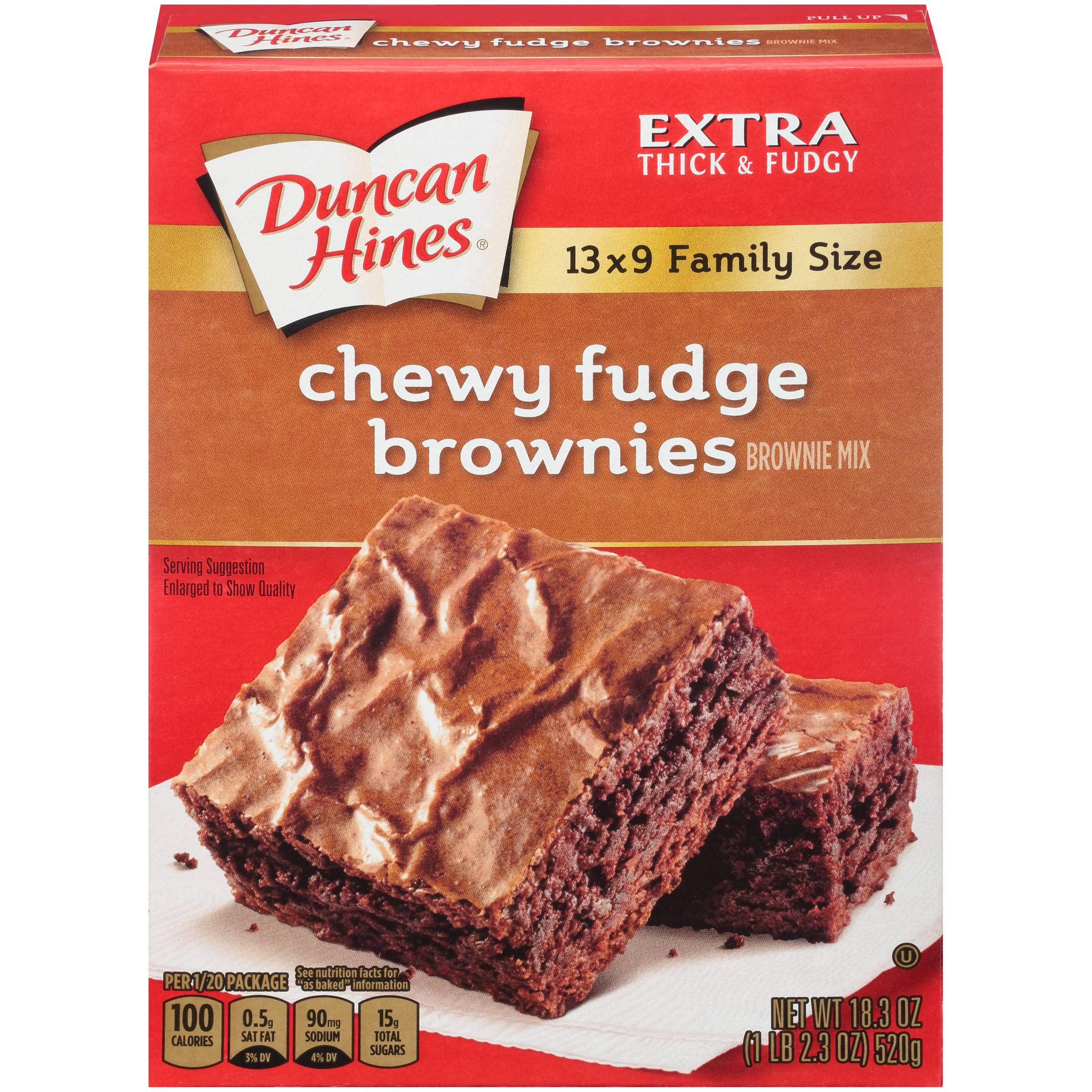 Duncan Brownie Mix Premium Chewy Fudge 18 OZ (Pack of 24)