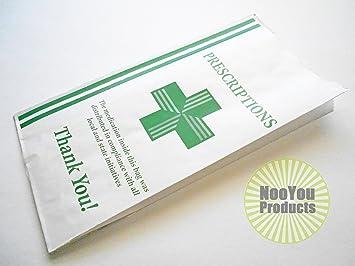 Green Health Cross - Dispensary Prescription Bags (10x5x2