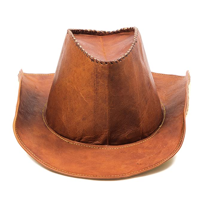 618386e53e97d Goatter Original Leather Stylish fashionable Cowboy Hat For Unisex  Amazon. in  Clothing   Accessories