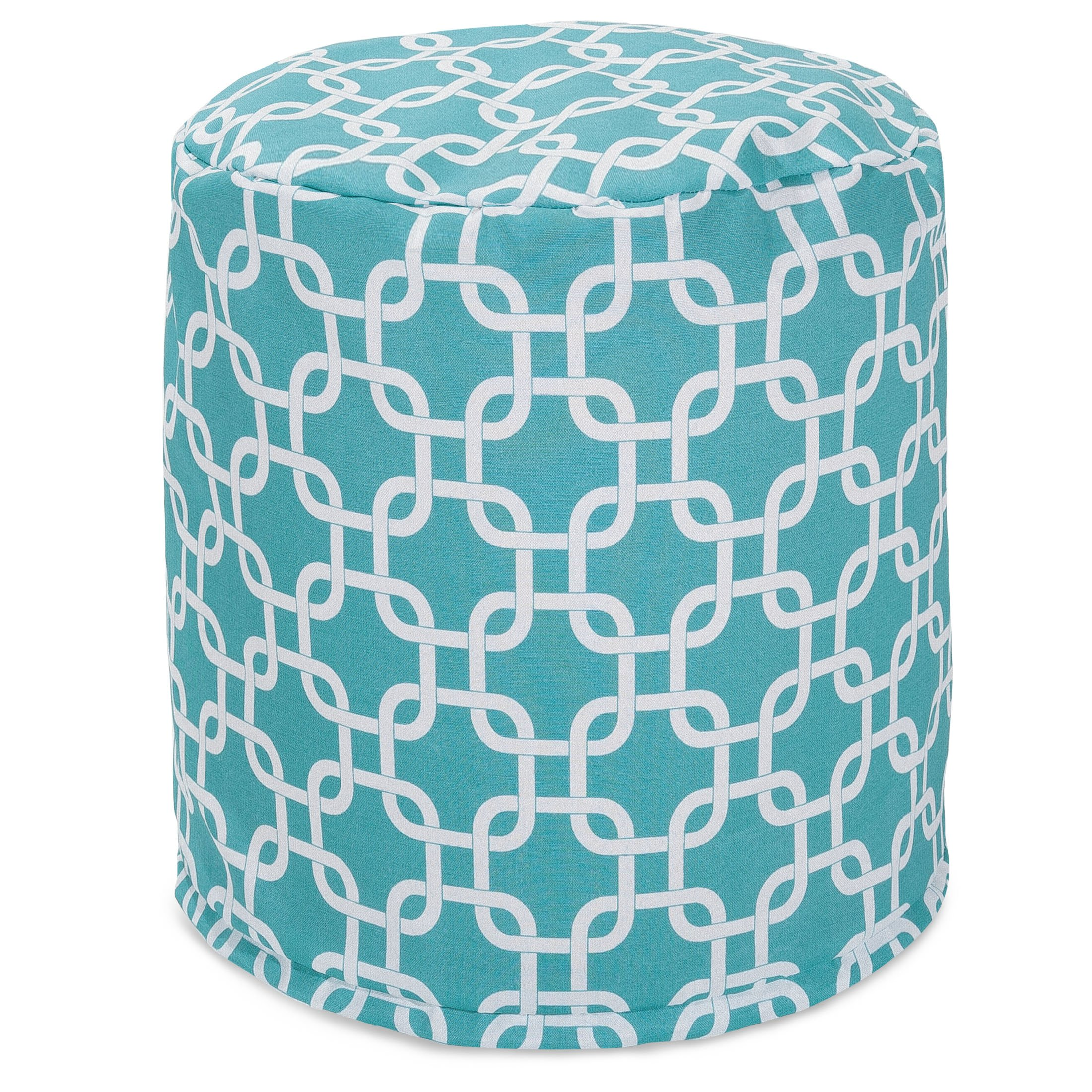 Majestic Home Goods Teal Links Indoor/Outdoor Large Pillow 16'' L x 16'' W x 17'' H
