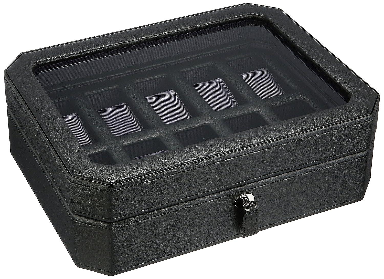 ウルフ 時計収納ケース(10本収納) ブラック/パープルWOLF 458403-WINDSOR B00WMGSCXM ブラック/パープル ブラック/パープル