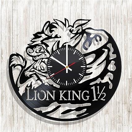 Reloj de pared, diseño de el rey León en el mundo de los discos de vinilo, ...