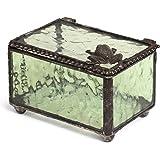 J Devlin Box 174 Green Frog Glass Decorative Keepsake Trinket Box