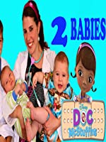Baby Doctor Check Up 2 BABIES Dr Sandra McStuffins Newborn Baby Hospital Visit DisneyCarToys