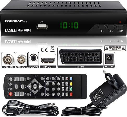 Echosat 2910 DVBT2 - Receptor Full HD 1080P 4K para TV (HEVC ...