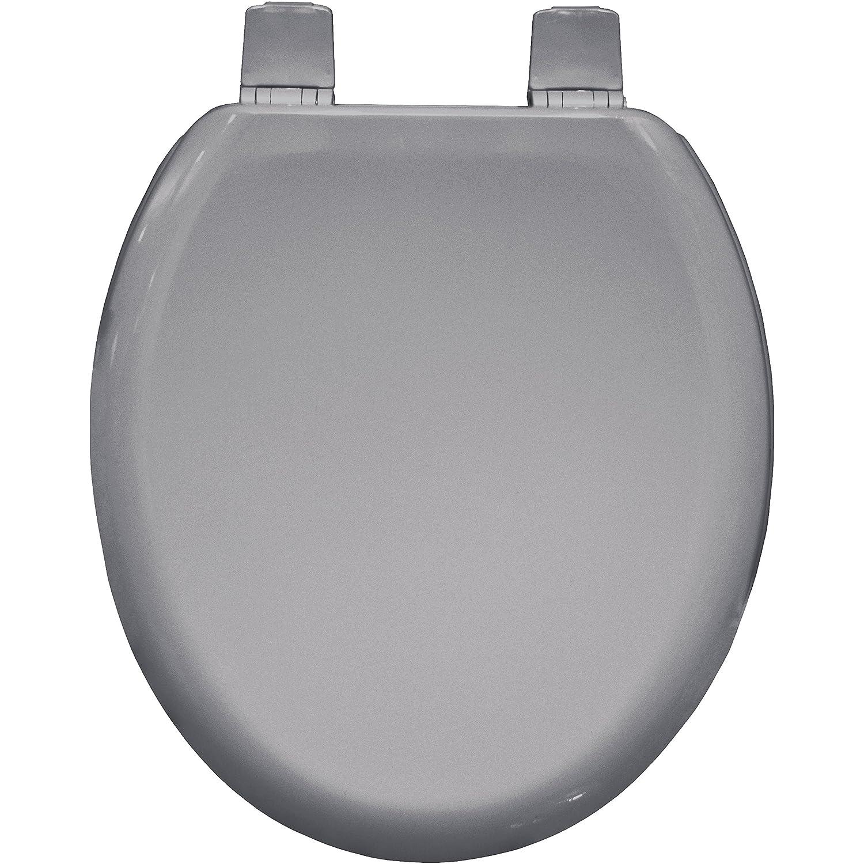 light grey toilet seat.  Bemis Chicago Toilet Seat Whisper Grey Amazon co uk DIY Tools