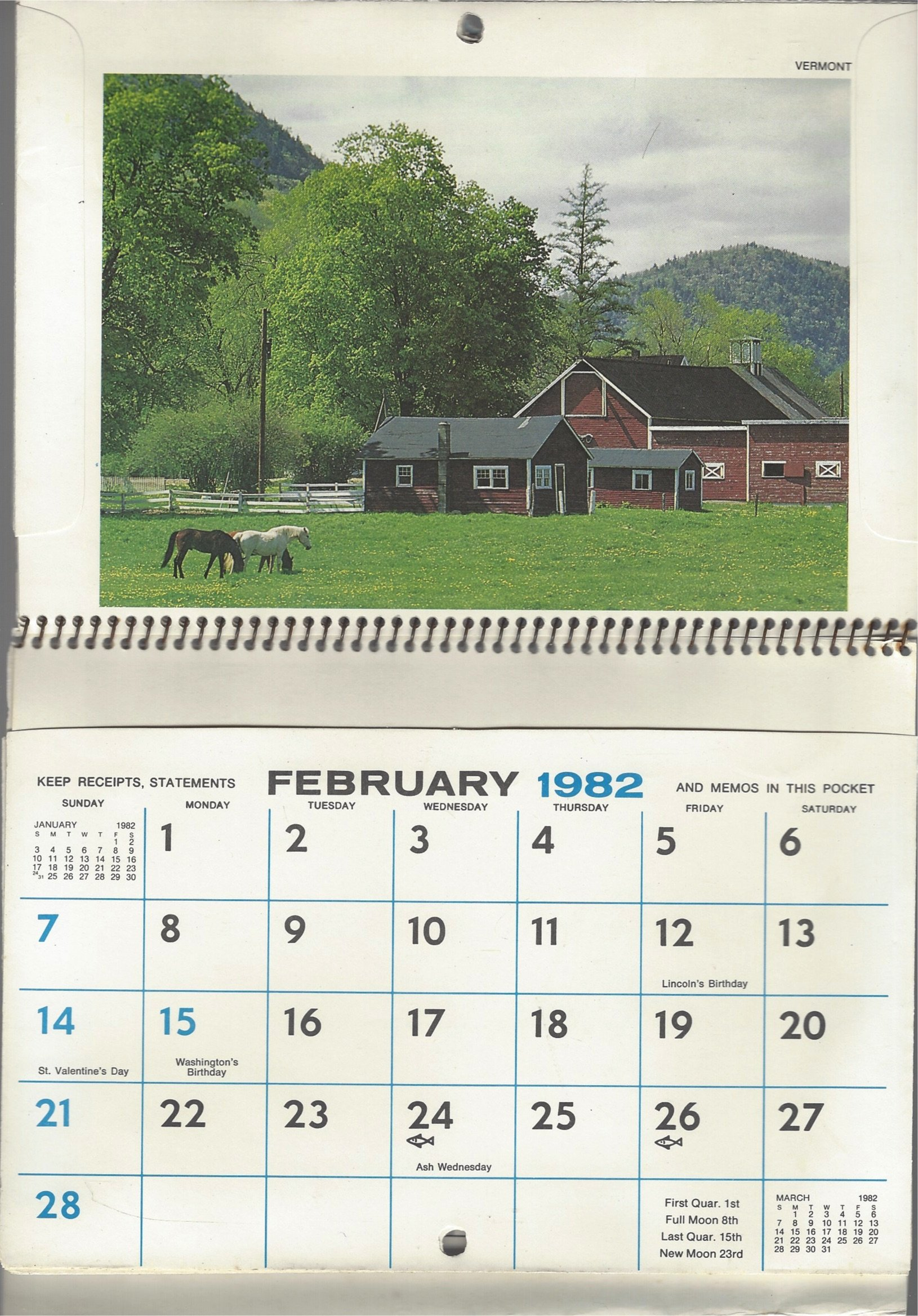 Tps Calendar.Amazon Com A 12 Month Wall Calendar For 1982 By Suburban Propane