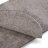casa pura Teppich Läufer Uni Silbergrau | Qualitätsprodukt aus Deutschland | Gut Siegel | Kombinierbar mit Stufenmatten | 19 Breiten und 18 Längen