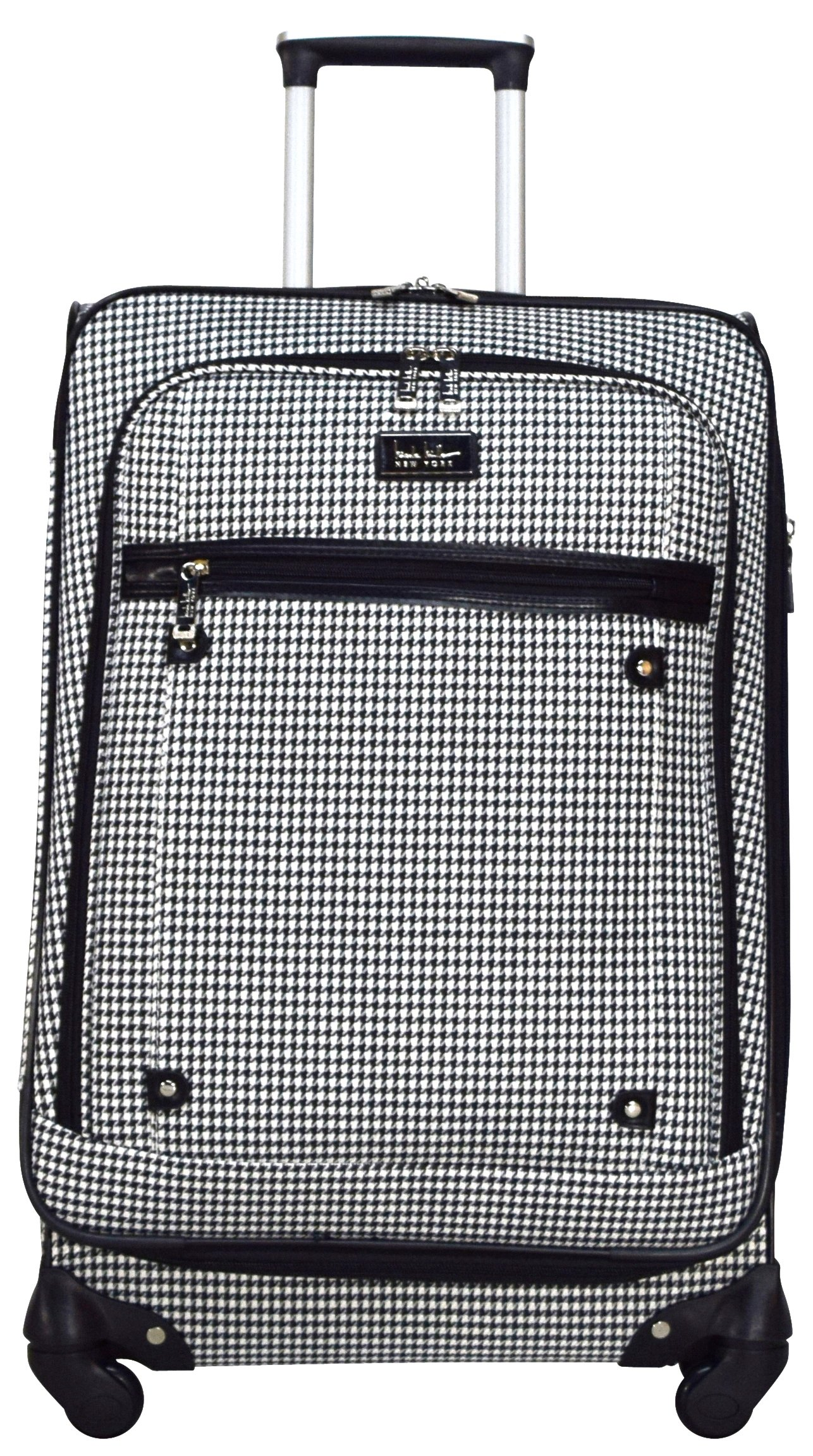 Nicole Miller New York Taylor 24'' Expandable Spinner Suitcase (Black/White Plaid) by Nicole Miller New York (Image #2)
