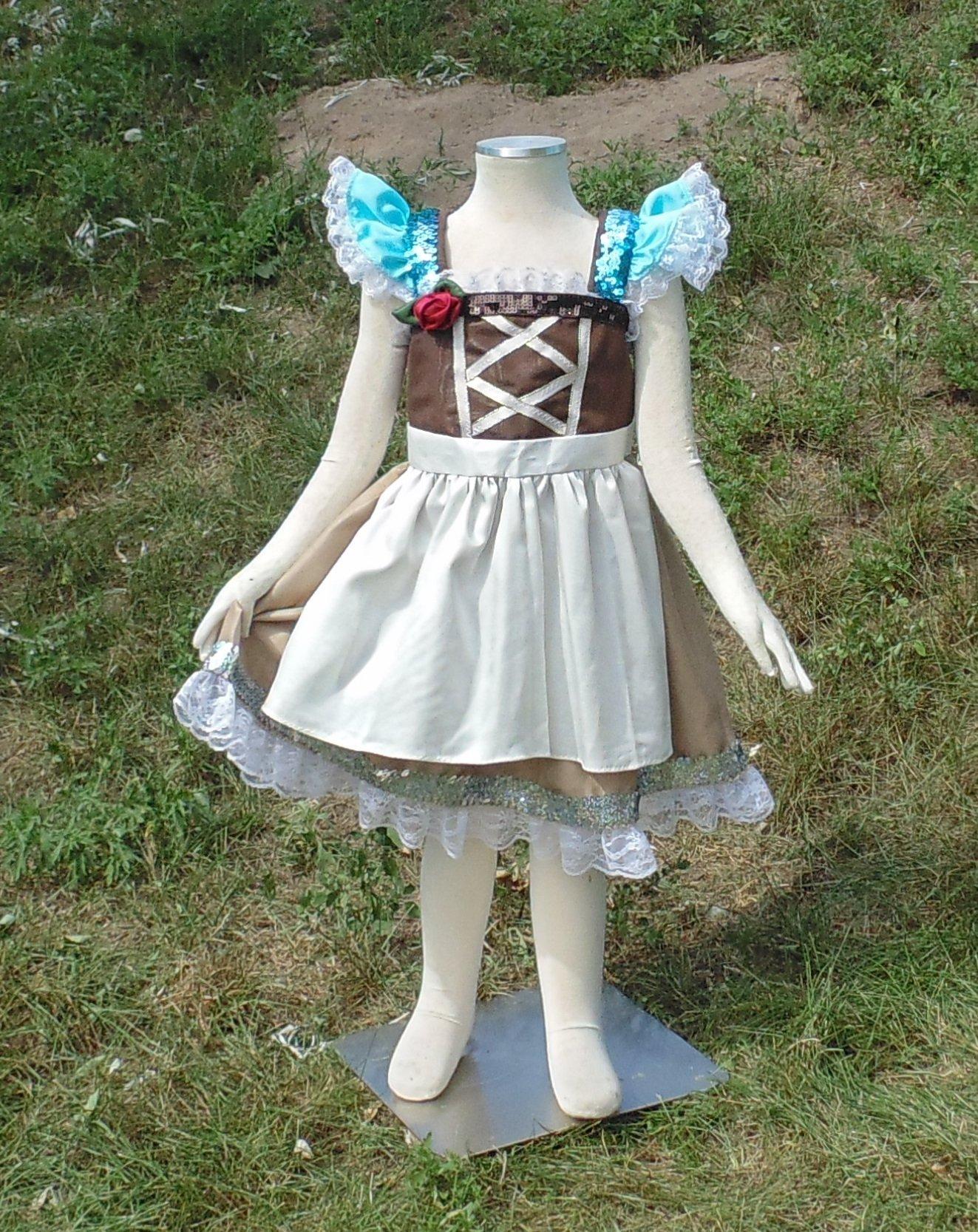 Girls 4-5 Peasant Cinderella dress up apron