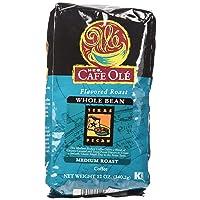 HEB Cafe Ole Whole Bean Coffee 12oz Bag (Pack of 3) (Texas Pecan - Medium Dark Roast...