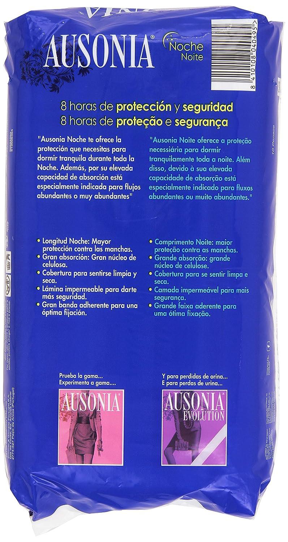 Ausonia - Noche, Compresas con 8 horas de protección y seguridad, 10 unidades: Amazon.es: Salud y cuidado personal