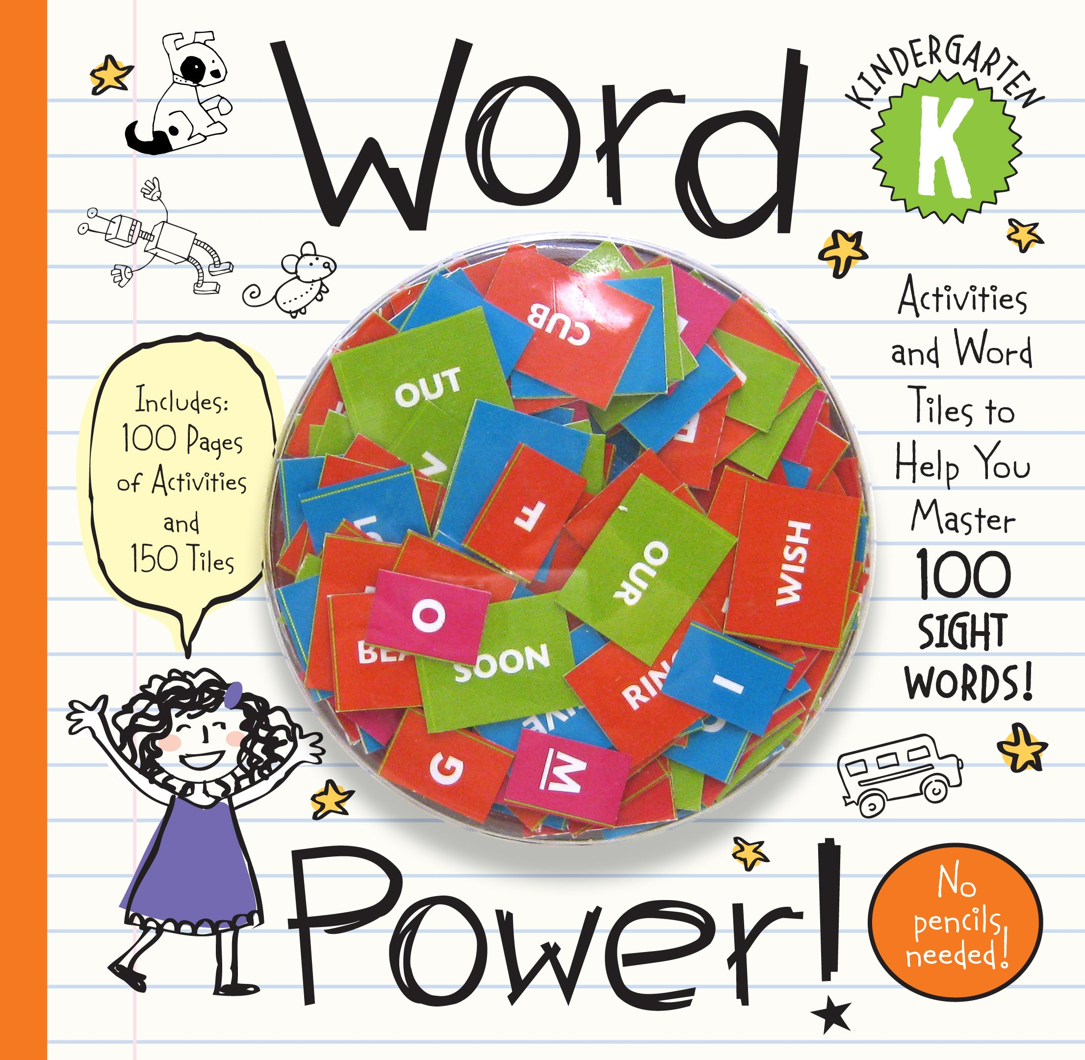 Word Power! Kindergarten: Activities and Word Tiles to Help You Master 100 Sight Words! pdf epub