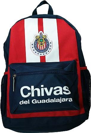 Adaptado cerebro télex  Amazon.com: Chivas de Guadalajara auténtico producto oficial de fútbol  mochila, negro, talla única: Clothing
