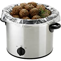 PanSaver Small Slow Cooker Liner for Kitchen Use, Fits 1-3 Quarts 5 Count