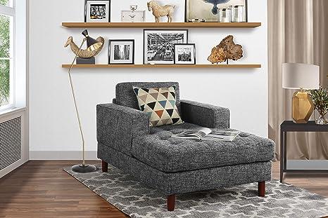 Fine Mid Century Modern Linen Fabric Living Room Chaise Lounge Light Grey Creativecarmelina Interior Chair Design Creativecarmelinacom