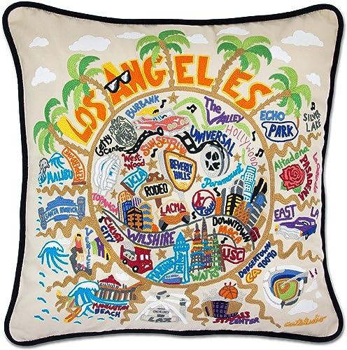 Catstudio Los Angeles Embroidered Decorative Throw Pillow