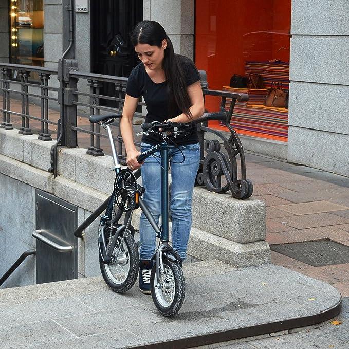 Ossby Curve Bicicleta Plegable, Unisex Adulto, Azul metálico, Talla Única: Amazon.es: Deportes y aire libre