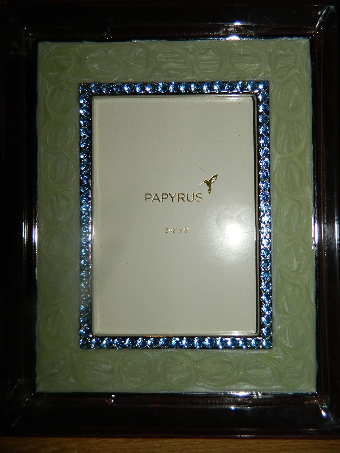 Amazon.com - Papyrus 3.5 x 5 Green with Blue Crystals Single Photo ...