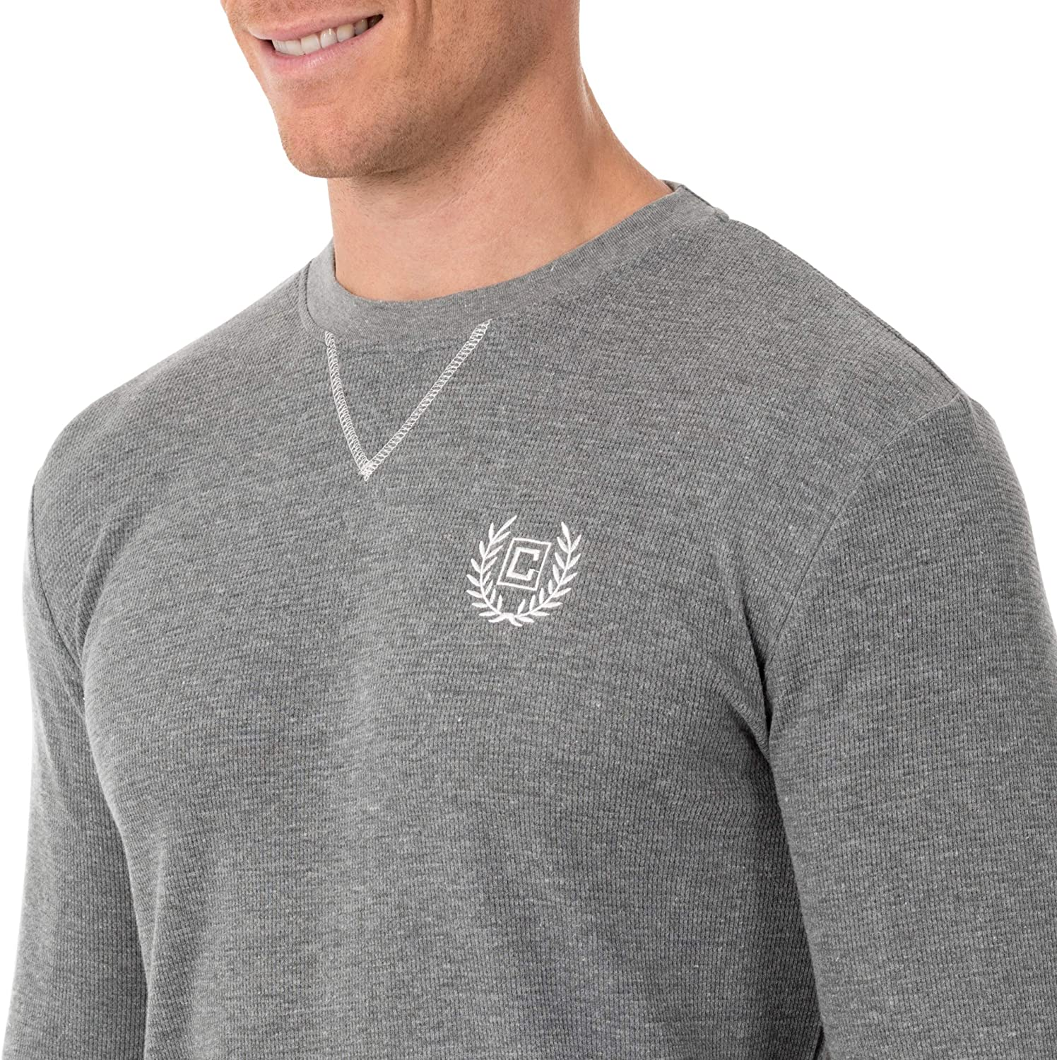 Chaps Mens Waffle Long Sleeve Crew Neck Top