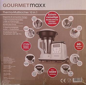 Gourmet Maxx – térmica – Robot de cocina con cocción y función Mix: Amazon.es: Hogar
