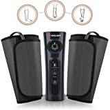 FiveJoy Portable Electric Cordless Air Compression Leg Massager Wraps Sleeves for Muscle Relaxant, Blood Circulation and Pain Relief - SCD Machine for Arm, Calf and Foot - Great Personal Therapy Tool