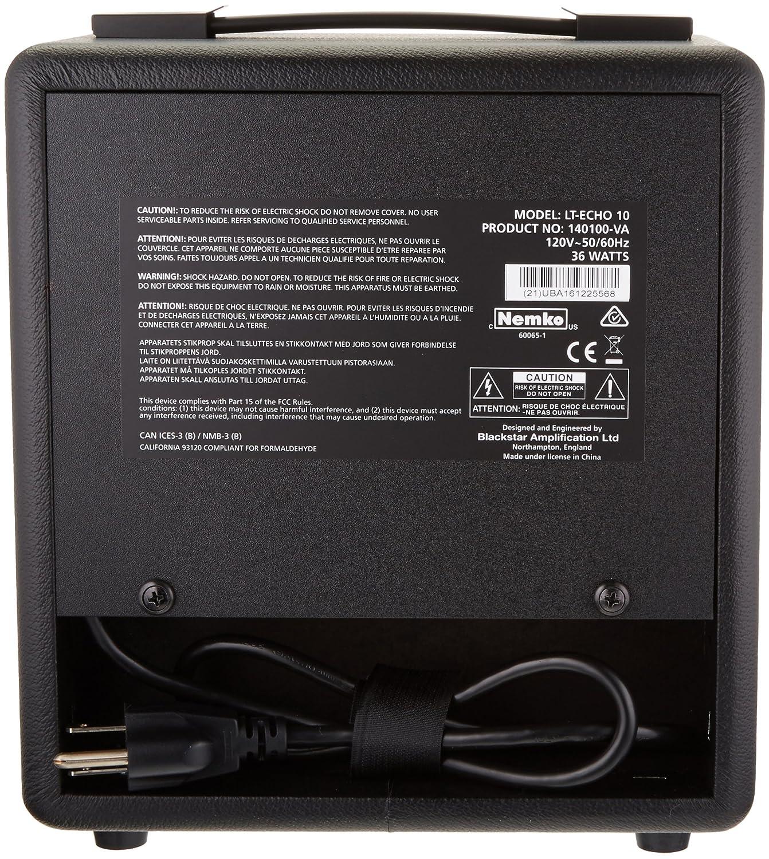 Amplificador combo para guitarra Blackstar LT ECHO 10: Amazon.es: Instrumentos musicales