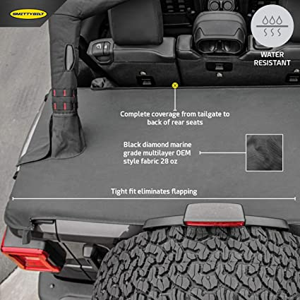 Amazon Com Smittybilt 771335 Tonneau Cover For Jeep Jl Wrangler 4 Door Automotive