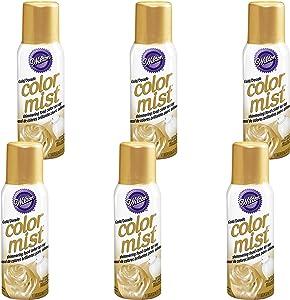 Wilton Gold Color Mist Shimmering Food Color Spray, Multipack of 6