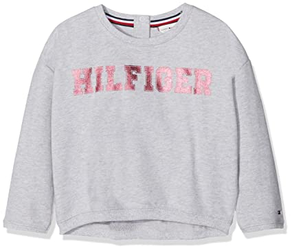 6c2851ce0 Tommy Hilfiger Baby Girls' Essential Foil Print Sweatshirt (Grey Heather  004), ...