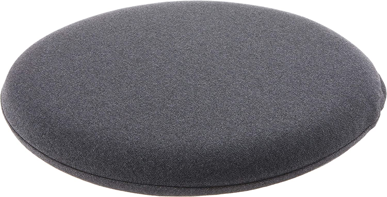 Muji 02564001 Urethane Foam Seat Cushion Round / Heathered Charcoal Diameter 13.4 inches (34 cm)