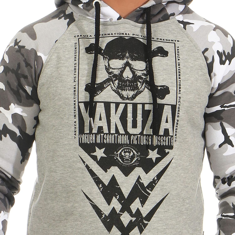 Yakuza Original Herren Pullover mit Kapuze skull twoface hoodie Sweatshirt 11002