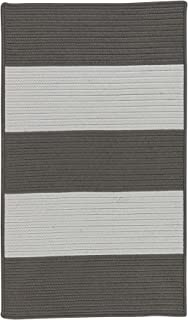 product image for Colonial Mills Newport Textured Stripe Braided Rug, 2' x 4' , Greys