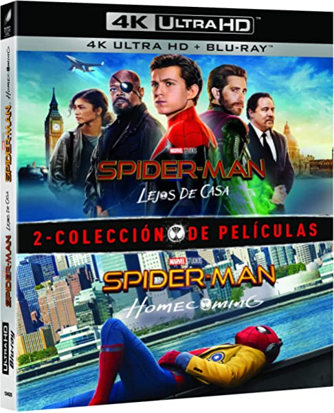 Pack Spider-Man: Homecoming + Lejos de casa 4K UHD + BD Blu-ray ...