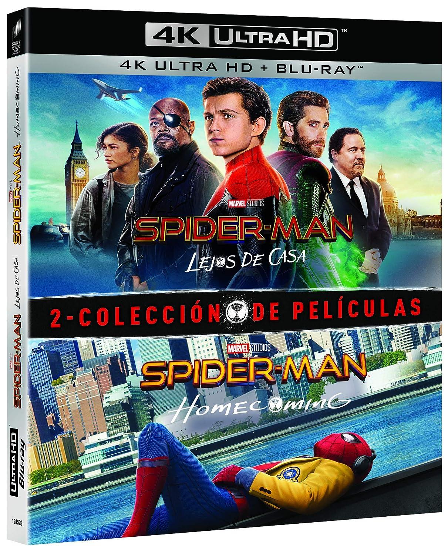 Pack Spider-Man: Homecoming + Lejos de casa 4K UHD + BD Blu-ray: Amazon.es: Tom Holland, Samuel L. Jackson, Jake Gyllenhaal, Michael Keaton, Jon Watts, Tom Holland, Samuel L. Jackson, Columbia Pictures, Pascal