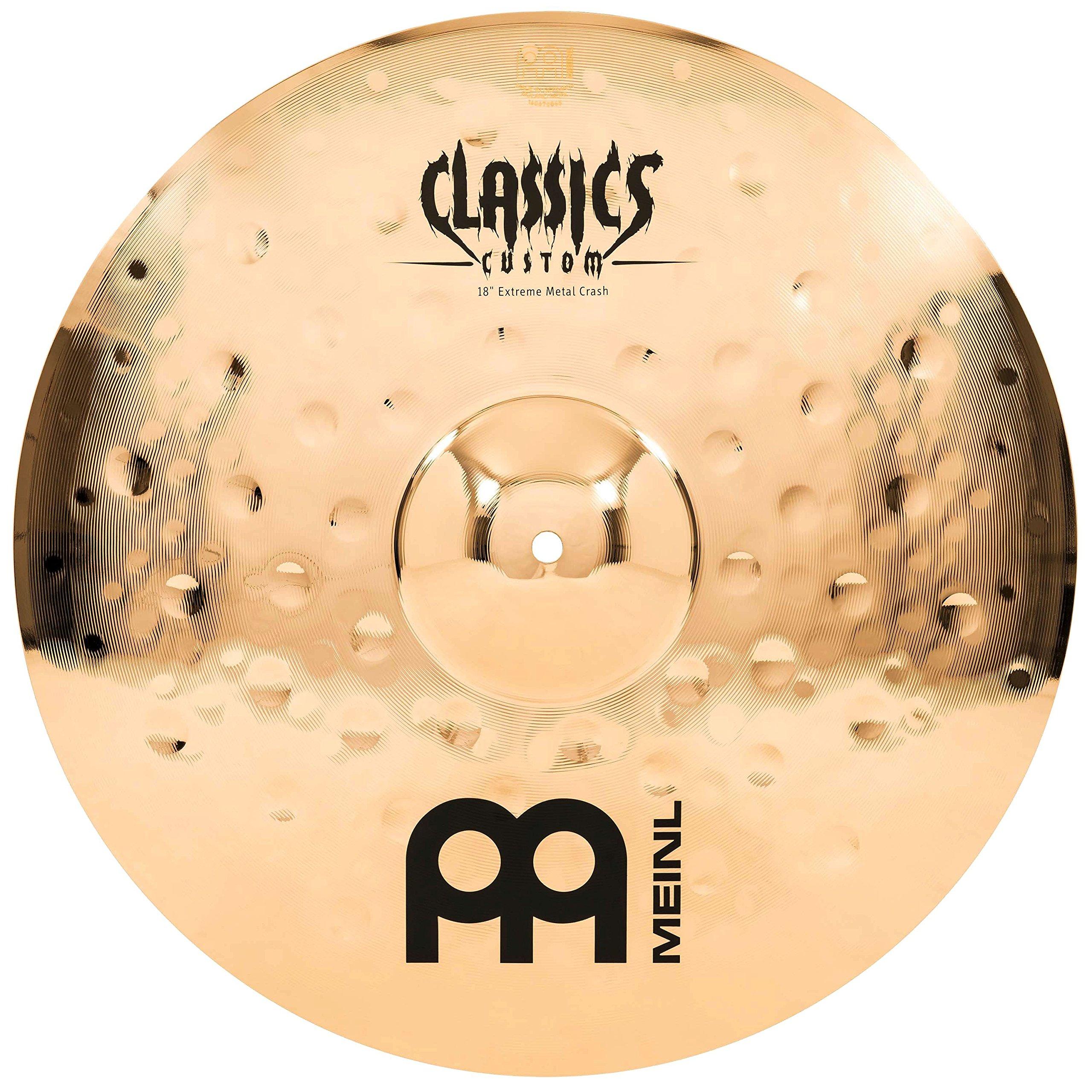 Meinl Cymbals CC18EMC-B Classics Custom Extreme Metal 18-Inch Brilliant Finish Crash Cymbal (VIDEO)