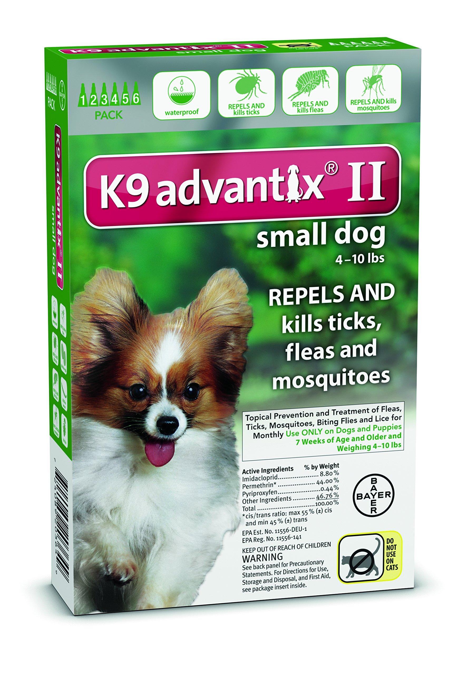 K9 Advantix Flea & Tick Medication for Dogs Supply: 6 Months, Pet Weight: Under 10 lbs