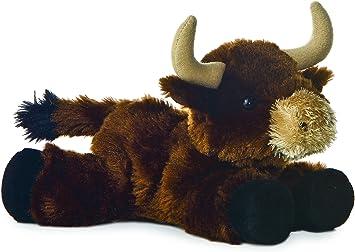 Aurora Mini Flopsie - Toro de peluche (20,3 cm), color marrón: Amazon.es: Juguetes y juegos
