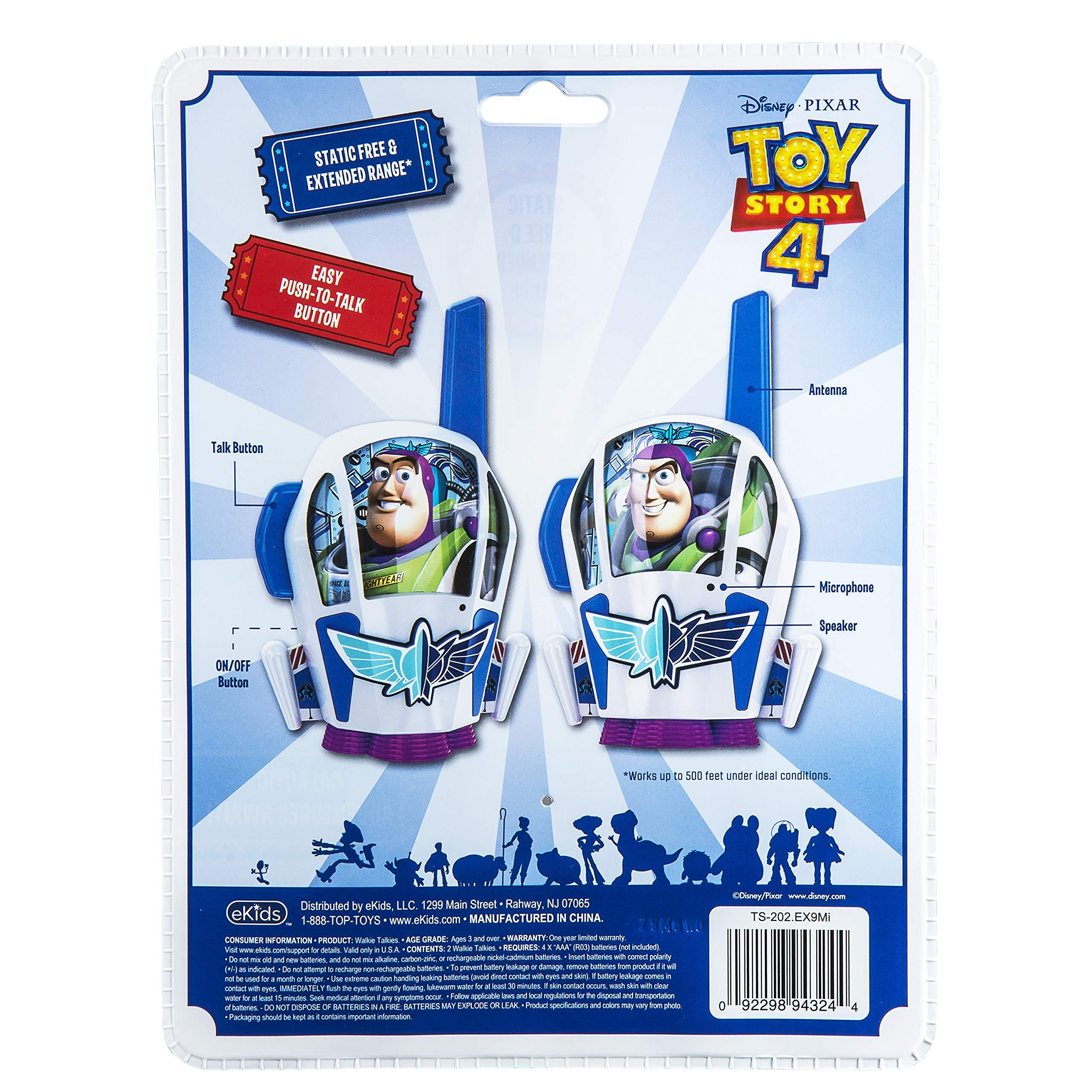 Toy Story 4 Buzz Lightyear Kids Walkie Talkies for Kids Static Free Extended Range Kid Friendly Easy to Use 2 Way Radio Toy Handheld Walkie Talkies Team Work Play Indoors or Outdoors by eKids (Image #5)