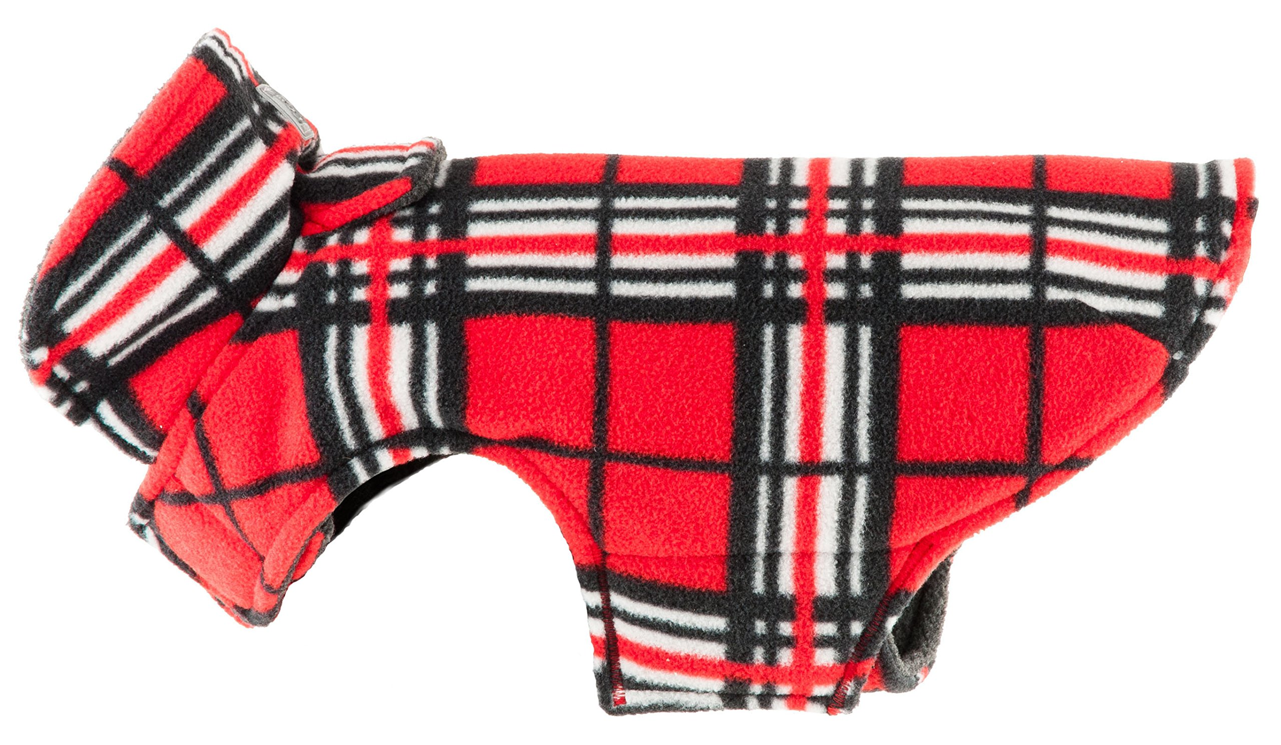 RC Pet Products Whistler Winter Wear V.2 Fleece Dog Coat, Size 22, Red Tartan